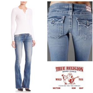 LIKE NEW!  True Religion Joey crystal flare jeans